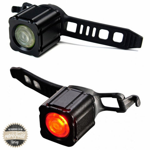 Xeccon Geinea III Front & Rear Light Set - Retro Road