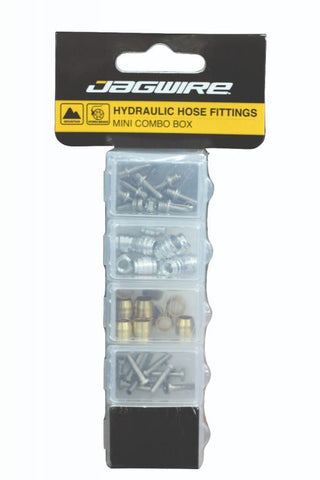 Jagwire Hydraulic Hose Fittings Mini Combo Kit (50pcs) - Retro Road