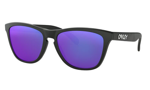 Oakley Frogskins Adult (Matte Black) Violet Iridium Lens - Retro Road