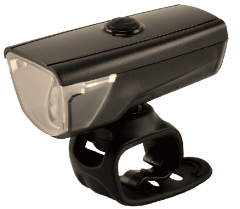 Smart Rays 150 (150 Lumens / 25 LUX) Front USB Rechargeale Light in Black - Retro Road