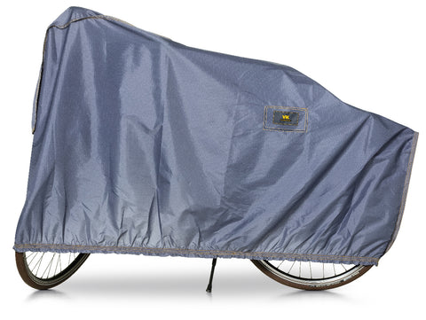 "VK ""E-Bike"" Showerproof Single Bicycle Cover with Ventilation in Blue/Grey - Retro Road"