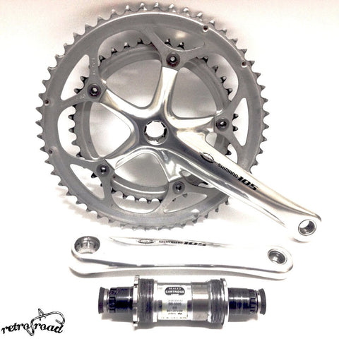 Shimano 105 Crankset +BB-5500 - Retro Road