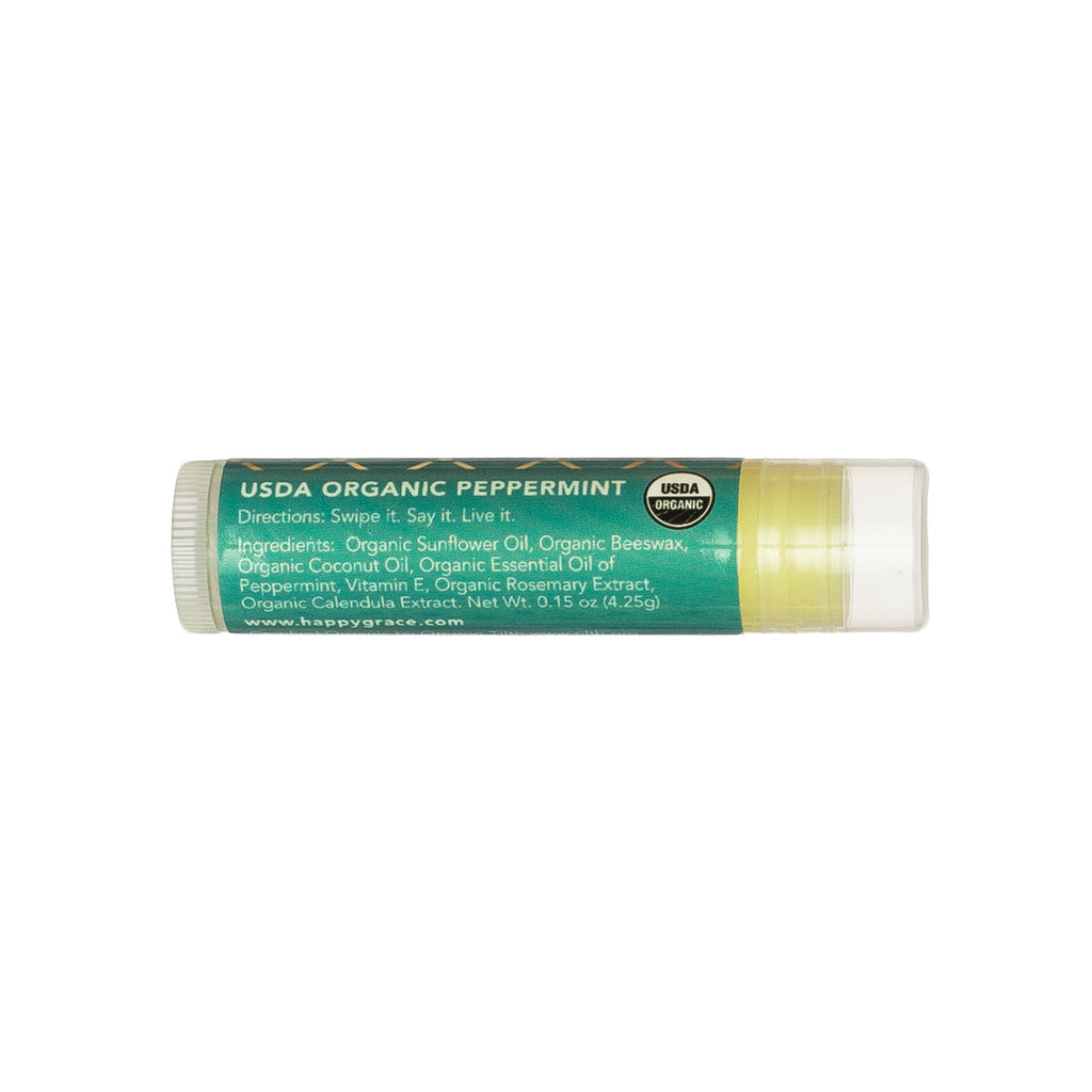 Organic lip balm. Gluten-free. Peppermint. Nourish. Self-care.