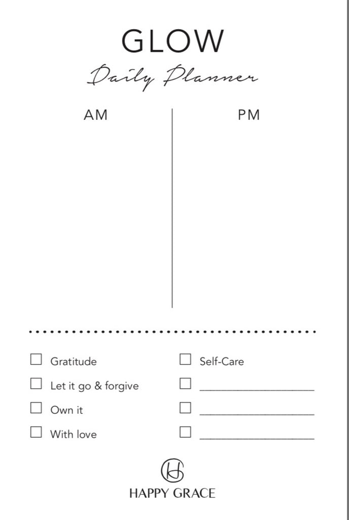GLOW Day Planner Notepad