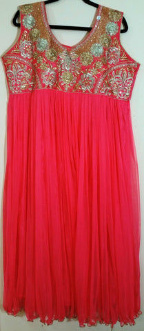Pink / Golden Embroidary  -XXL (162)