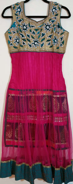 Pink with Stone - Churidar - XL (011)