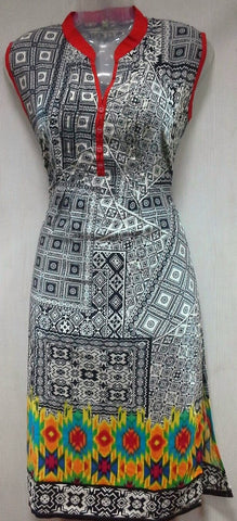 Black and Grey Designs Kurthi (505)