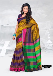 SAREE - Printed, Mulit-color, Pandora Silk  Catalog 8088
