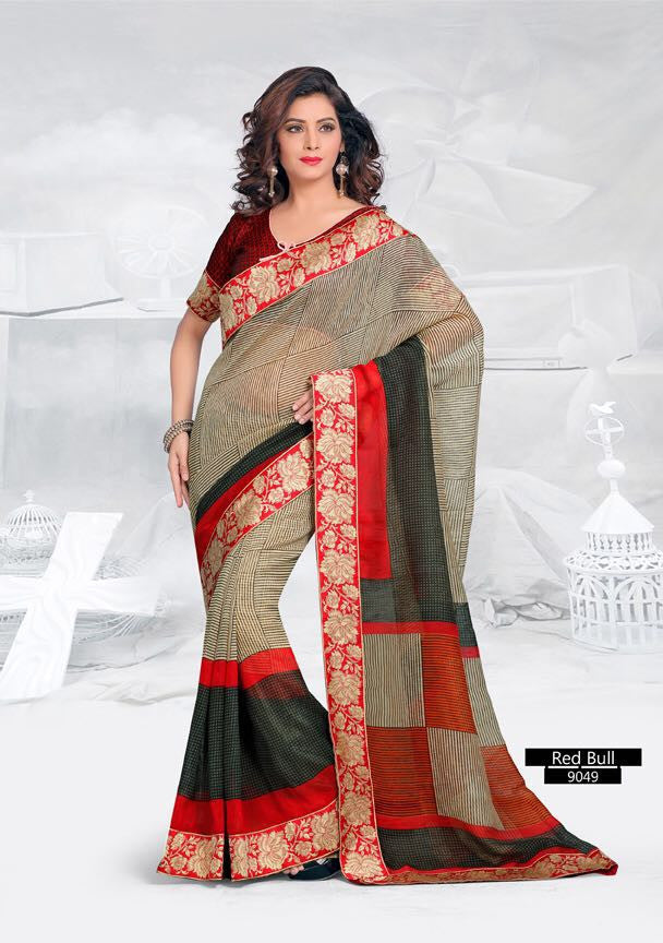 SAREE - Printed, Multi-color and Embroidary Catalog 9049