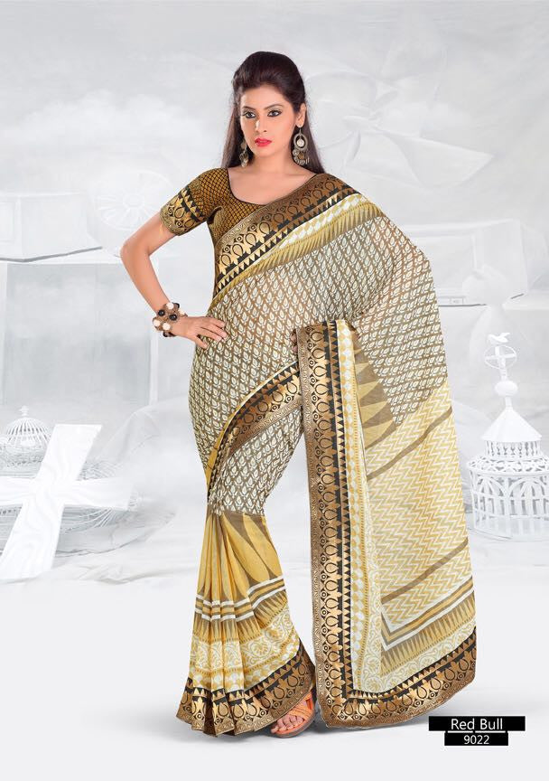 SAREE - Printed, Multi-color and Embroidary Catalog 9022