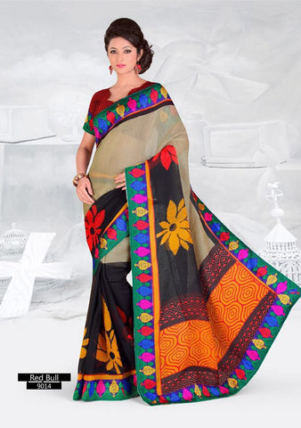 SAREE - Printed, Multi-color and Embroidary Catalog 9014