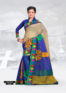 SAREE - Printed, Multi-color and Embroidary Catalog 9038