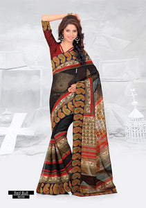 SAREE - Printed, Multi-color and Embroidary Catalog 9039