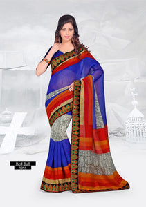 SAREE - Printed, Multi-color and Embroidary Catalog 9055