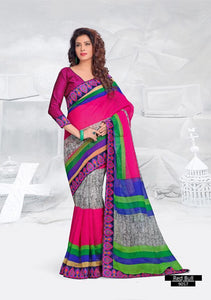 SAREE - Printed, Multi-color and Embroidary Catalog 9057