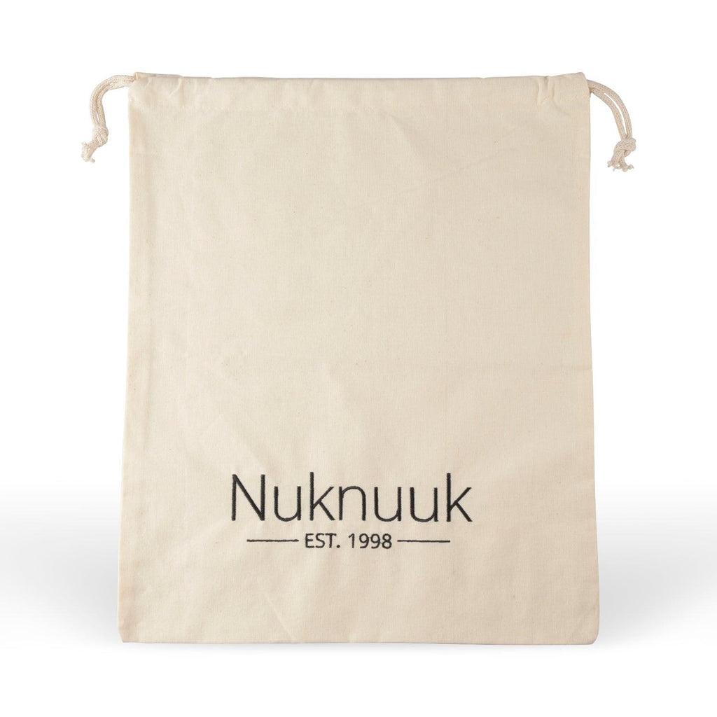 cotton travel bag with nuknuuk logo