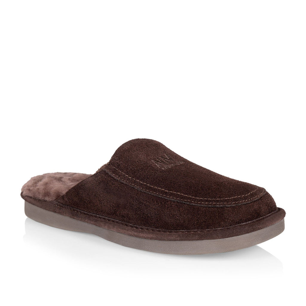 Todd men's slipper (Brown) - Nuknuuk