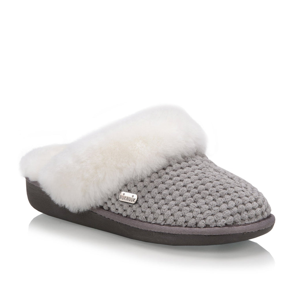 Nuknuuk Alexa ladies slipper with sheepskin fur