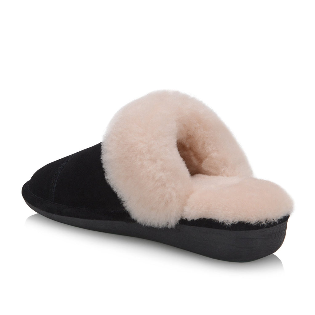 Joy Women's Slipper (Black) - Nuknuuk