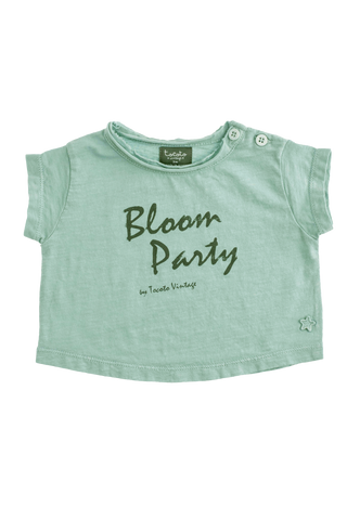 """Bloom Party"" Green T-shirt"