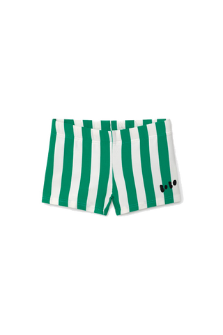 Green Striped Swim Boxer
