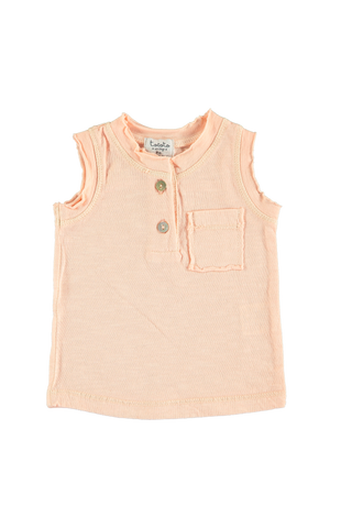 Front Pocket Salmon Tank Top baby