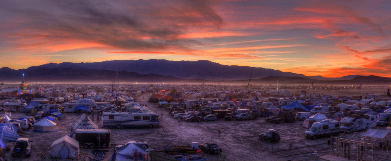 Burning Man At Dawn.  Photo by Andrew Miller