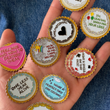 ENAMEL CAKE PINS - SET OF 9