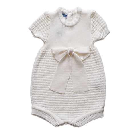Big Bow Romper ~ Off White