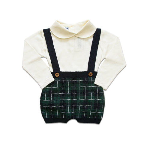 Checkered Overalls ~ Green