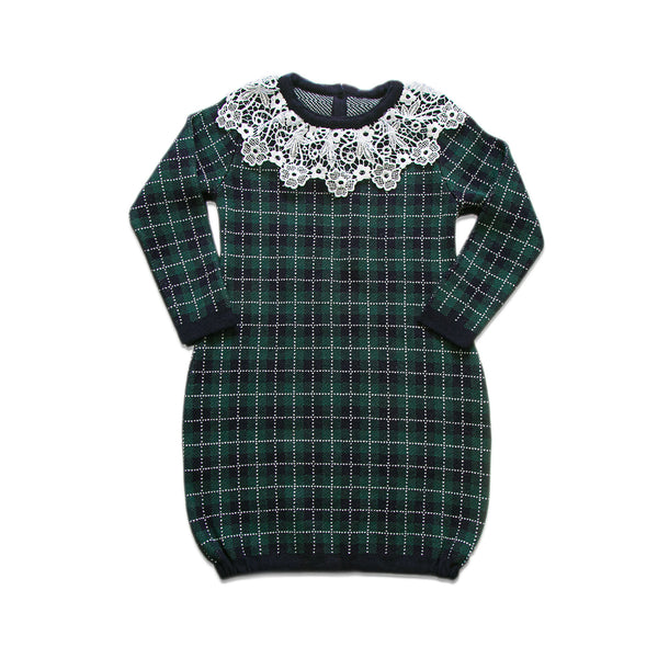 Checkered Dress ~ Green