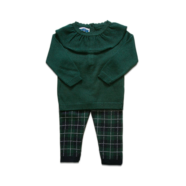 Ruffled Checkered Set ~ Green