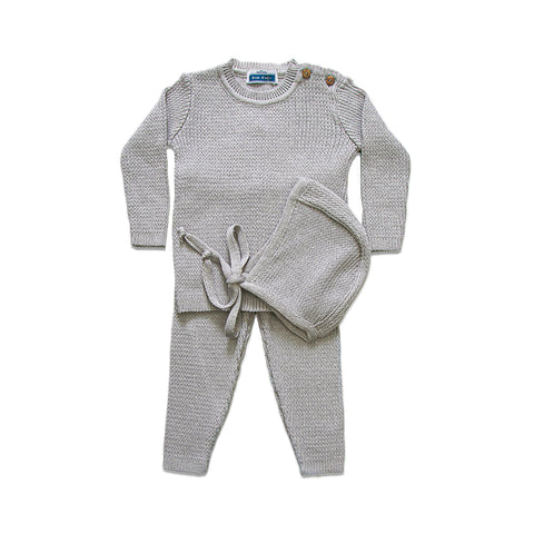 Knit Ribbed set ~ Grey