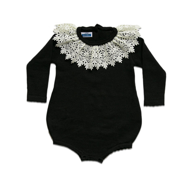 LS Bella Romper ~ Black