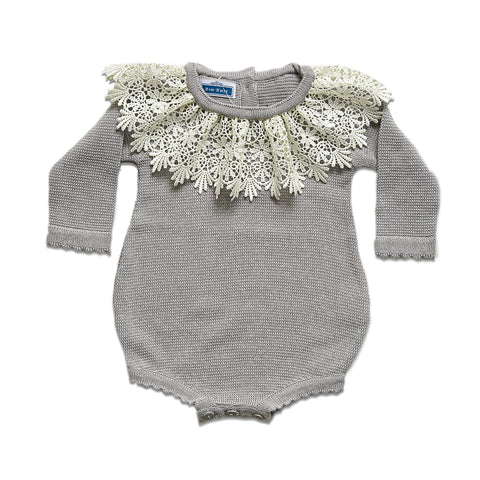 LS Bella Romper ~ Grey