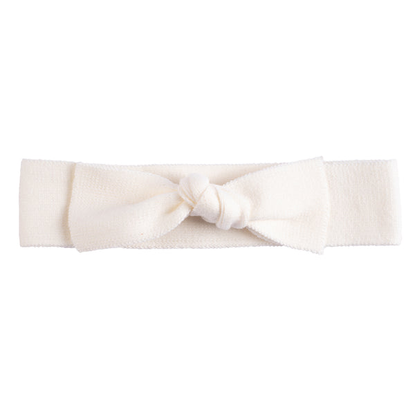 Bow Headband ~ Off white