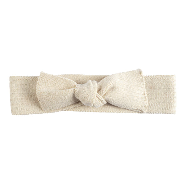 Bow Headband ~ Beige