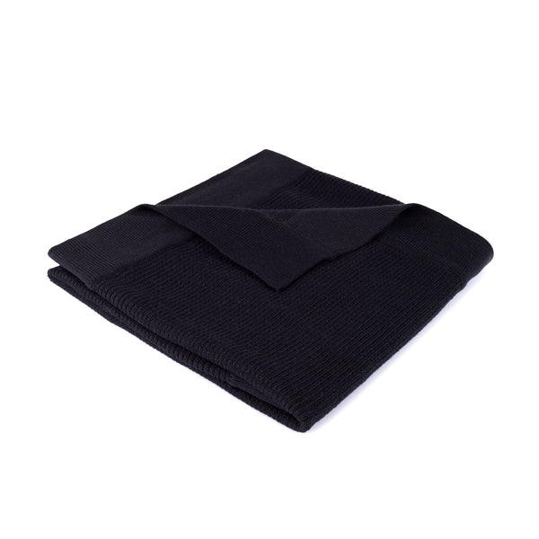 Ribbed Blanket  ~ Black