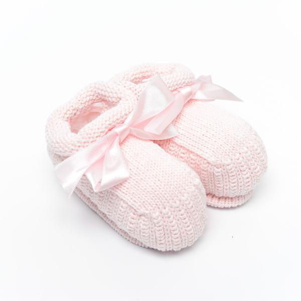 Knitted Booties ~ Pink