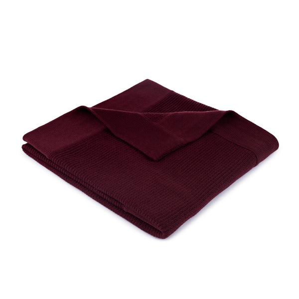 Ribbed Blanket ~ Burgundy