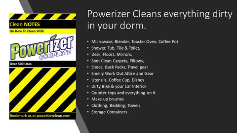 Dorm Cleaning Essentials With Powerizer Complete