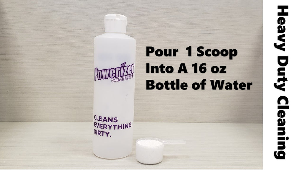 Powerizer Squirt Bottle and 1 scoop of Powerizer Complete