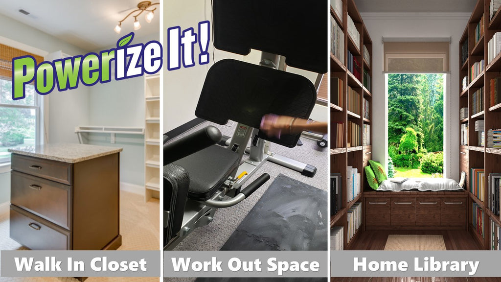 cleaning closets and home gym