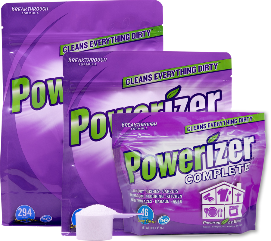 Powerizer Complete Multipurpose Laundry and Dishwasher Detergent & Household Cleaner