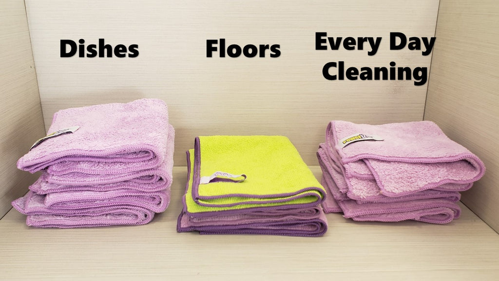 Microfiber Cloths, for dishes, floors and everyday cleaning