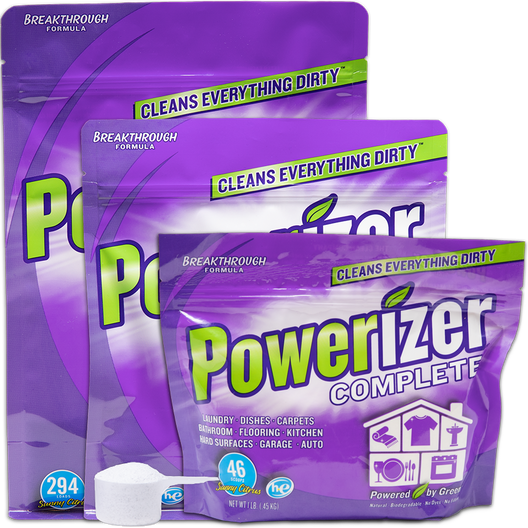 Powerizer Laundry and Dishwasher eco-friendly all purpose detergent 1lb 3lb 6.5lb bag