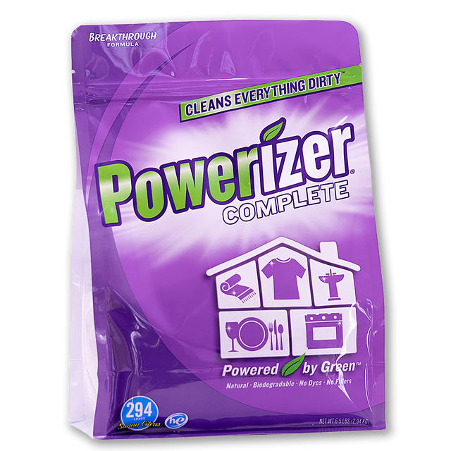 Powerizer Complete Multipurpose Detergent & Cleaner - Laundry, Dish, Carpet, Bath -6.5 lb.