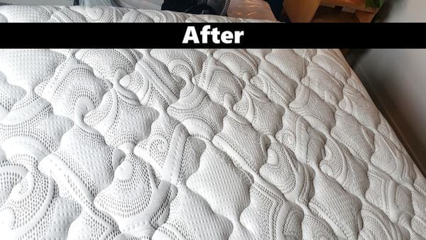 Mattress Image After Cleaning with Powerizer