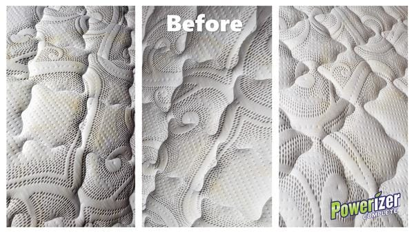 Mattress Images Dirty Before Cleaning With Powerizer