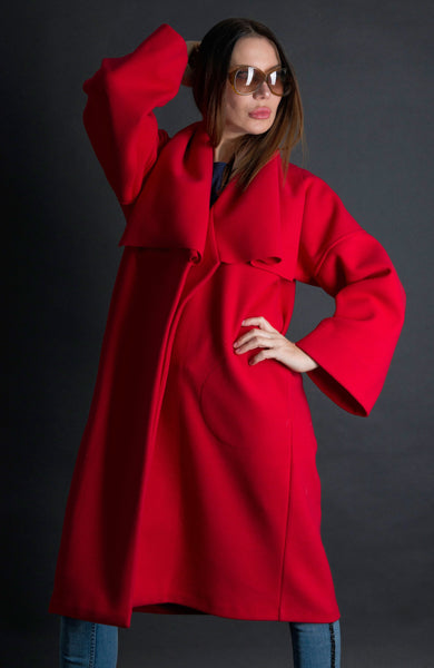 Red Cashmere Coat.